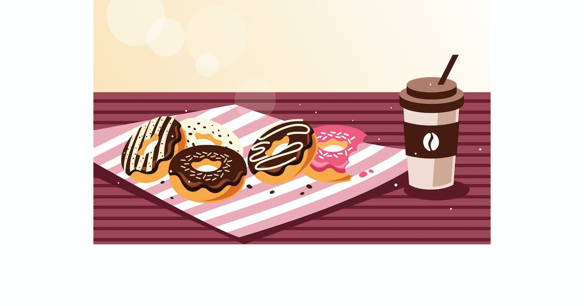 Download Breakfast with donuts and coffee by IanMikraz