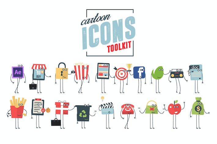 Thumbnail for Cartoon Icons Toolkit