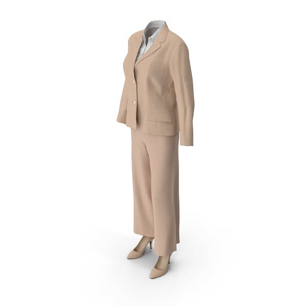 Thumbnail for Women's Business Suit Beige