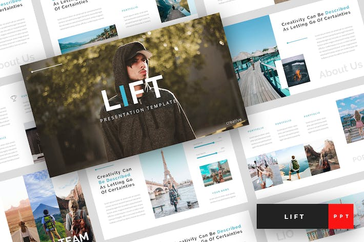 Cover Image For Lift - Creative PowerPoint Template