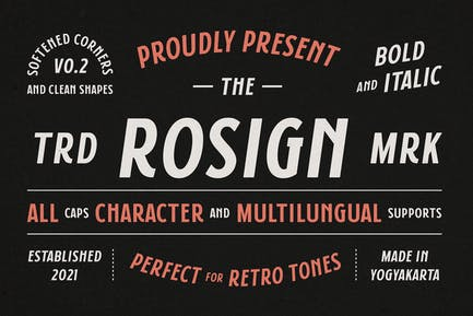 Rosign - Bold and Italic