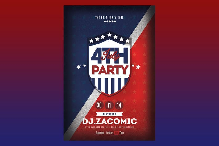 Thumbnail for 4TH July Flyer Poster