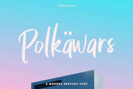 Polkawars escritura a mano Sans