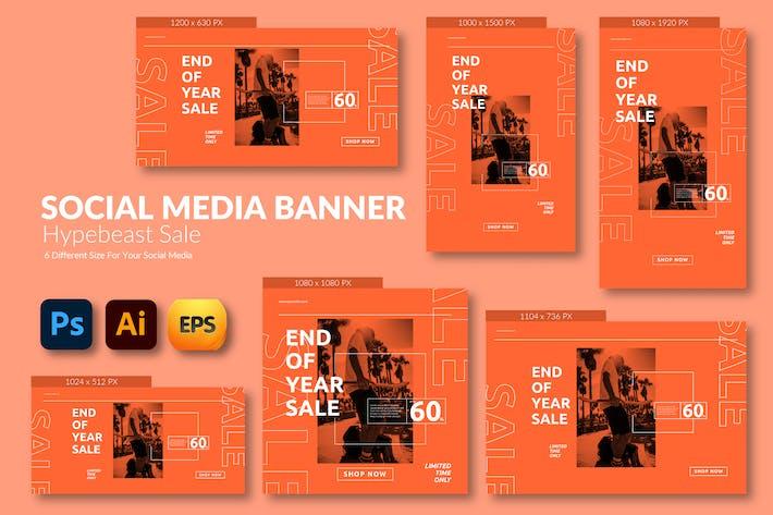 Hypebeast Sale – Social Media Banner Template