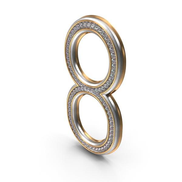 Бриллианты Bling Номер 8