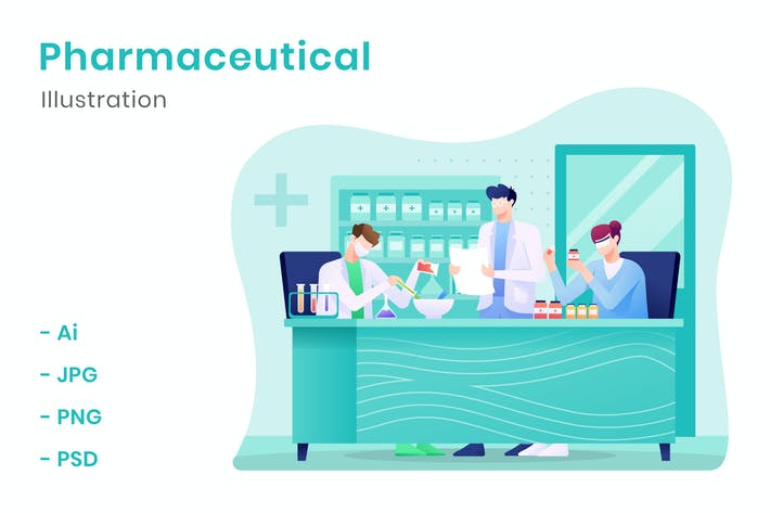Pharmazeutische Illustration