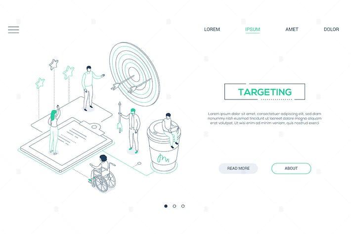 Thumbnail for Targeting - Liniendesign Stil isometrische WebBanner