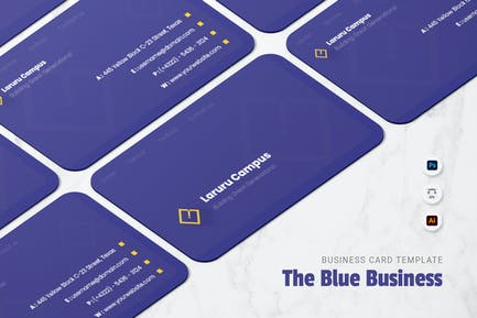 Blue Bussines Card