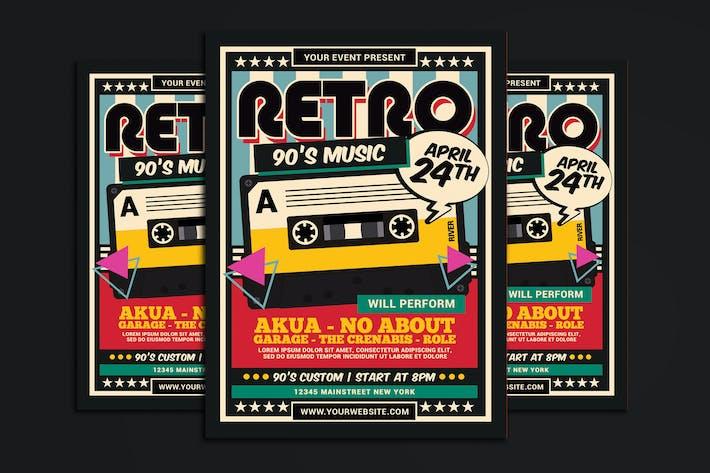 Thumbnail for dépliant de cassette de musique rétro