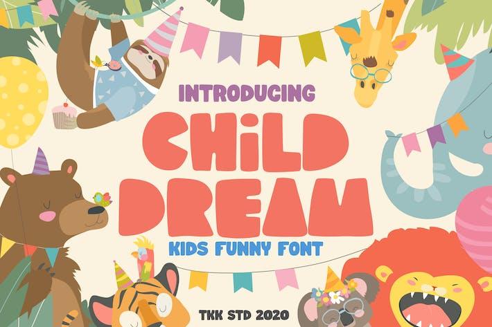 Thumbnail for Child Dream - Kids Block Font