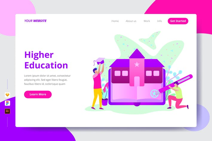 Higher Education - Landing Page