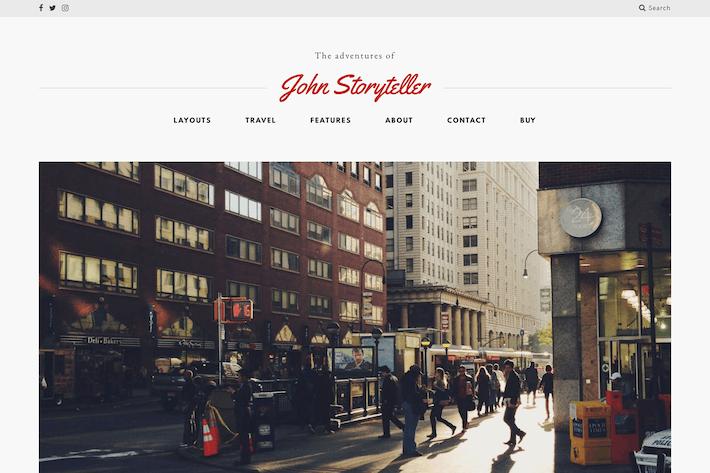 Storyteller — A Minimalist WordPress Blog Theme