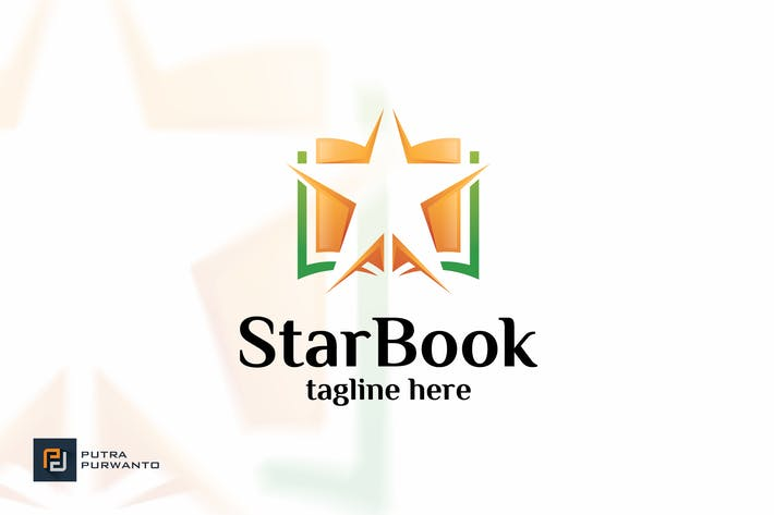 Cover Image For Star Book - Logo Template