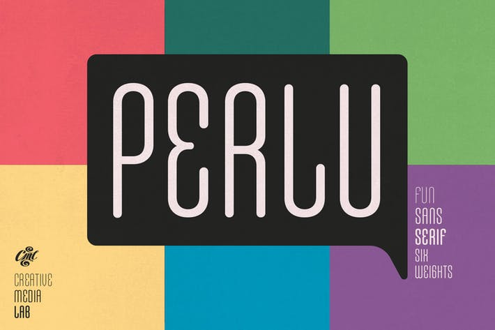 Perlu Sans - modern & fun san serif font