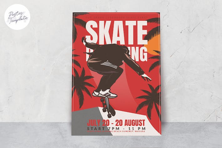 Thumbnail for Skateboard Event Poster Template