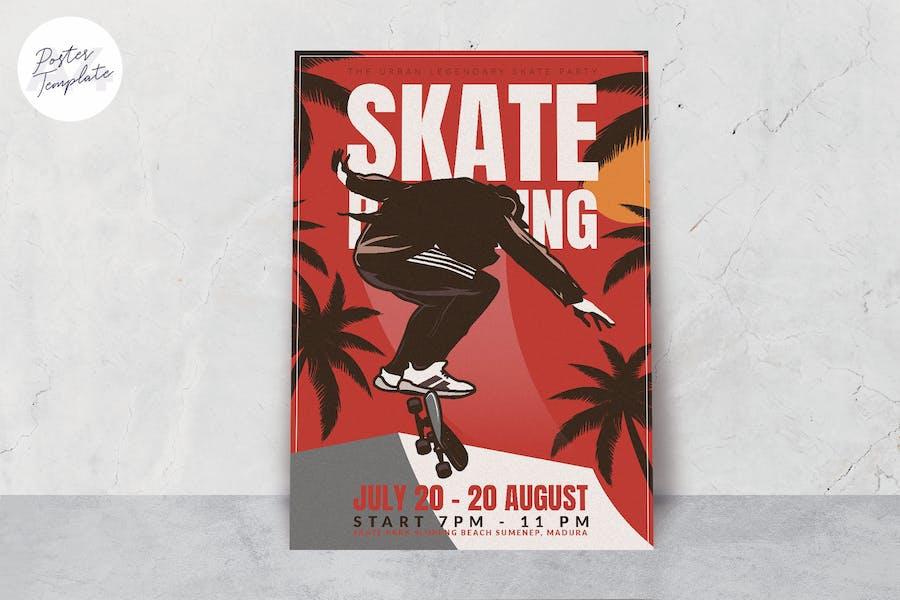 Skateboard Event Poster Template