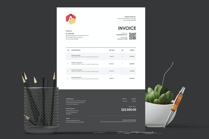 Cover Image For Invoice Template 20