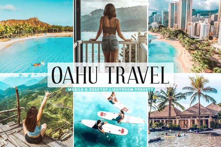 Thumbnail for Oahu Travel Mobile & Desktop Lightroom Presets