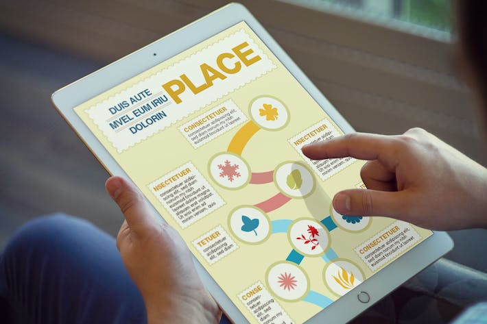 Thumbnail for Floral Infographics Template