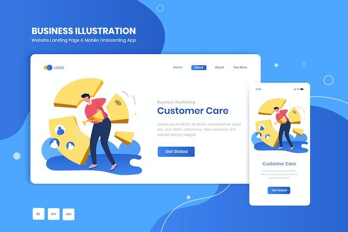 Marketingmaterial für Kundenbetreuung