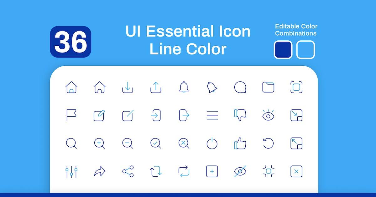 Download UI Essential Icon Line Color by sudutlancip