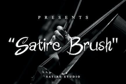 Satire Brush - Handwrite Font