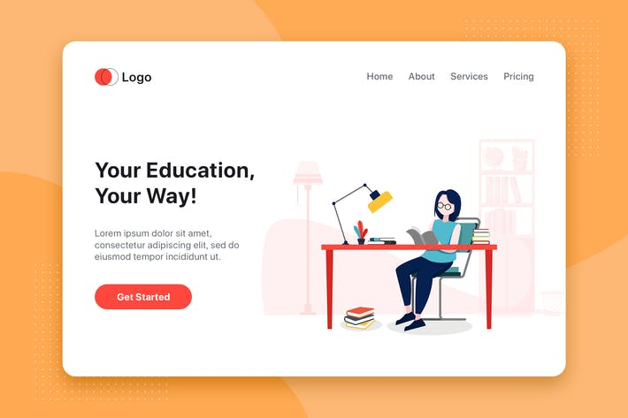 Thumbnail for Education flat concept for Landing page