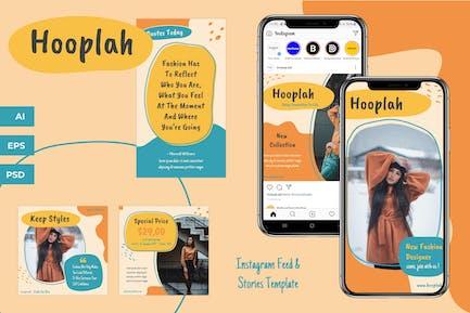 Hooplah - Instagram Feeds & Stories Pack