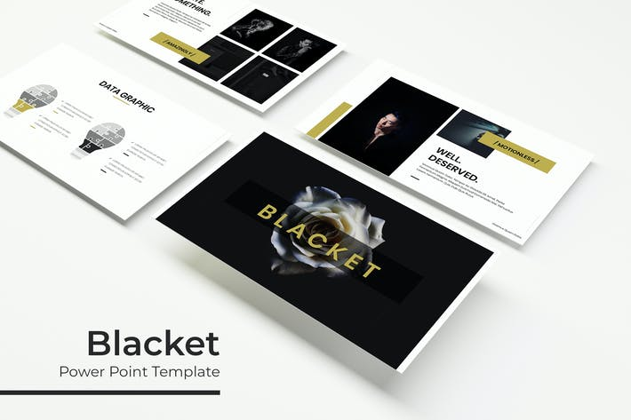 Thumbnail for Blacket - Powerpoint Template