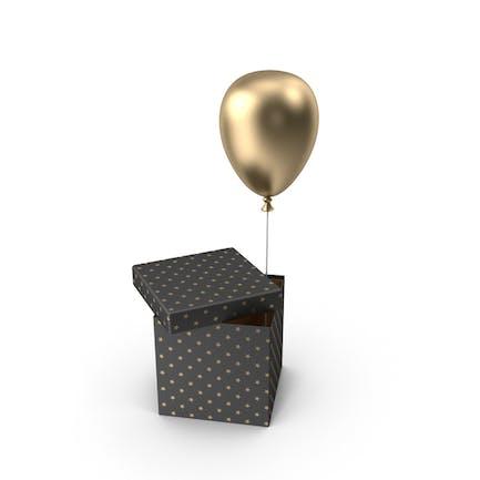 Gold Balloon Box