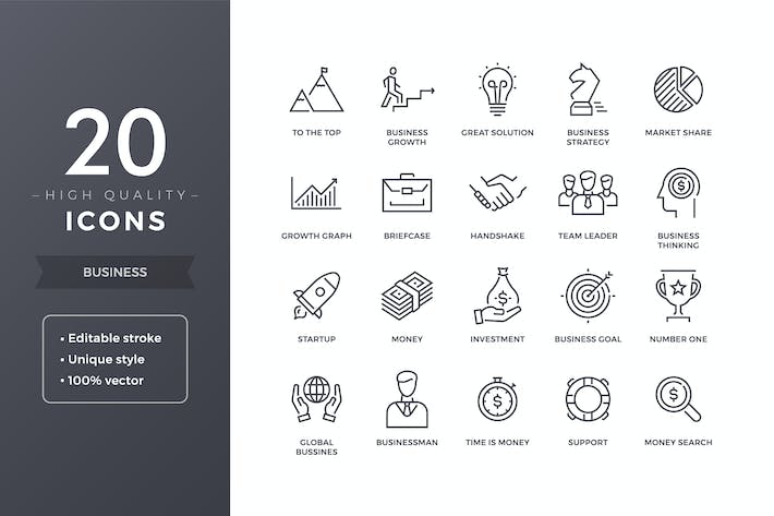 Cover Image For Business Icons