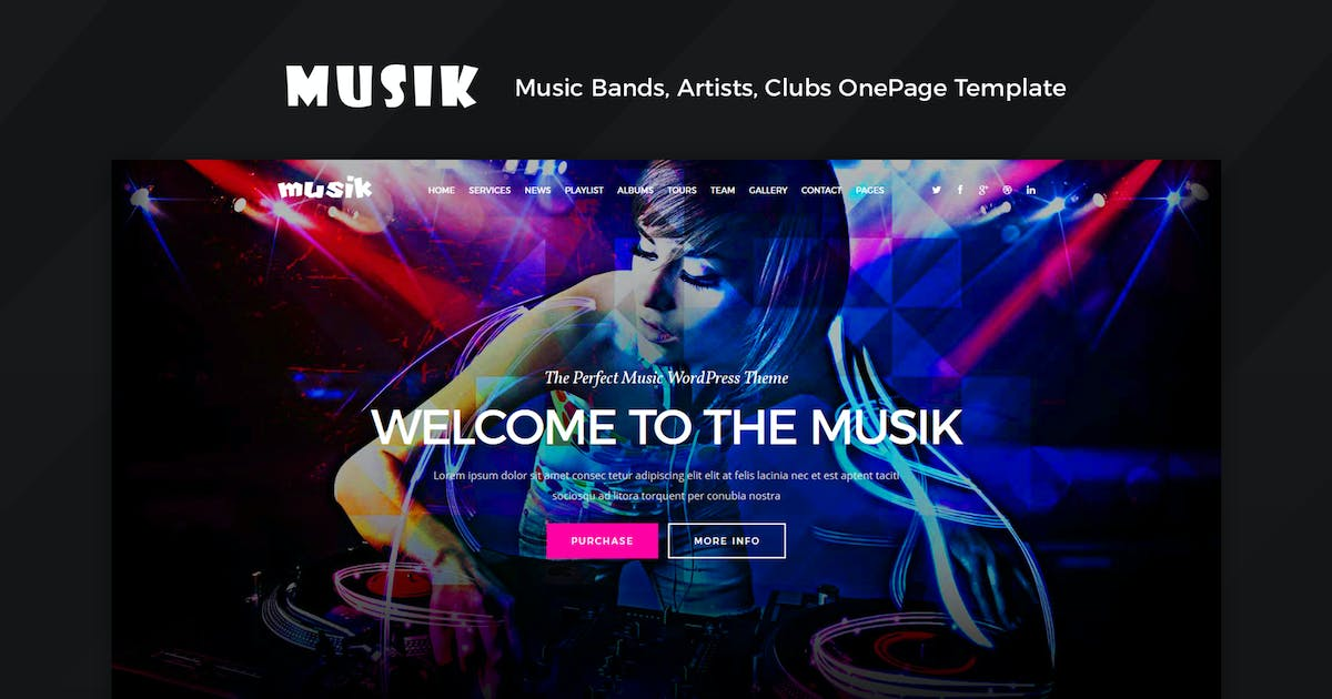 Download Musik - Music Bands, Artists, Musicians, Clubs by Theme-Squared