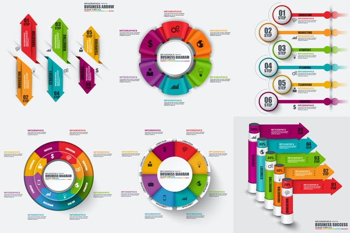Thumbnail for Infographics Vector Template