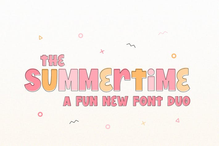 Thumbnail for Summertime Font Duo Negro