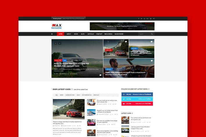 Thumbnail for Max Car Magazine PSD Template