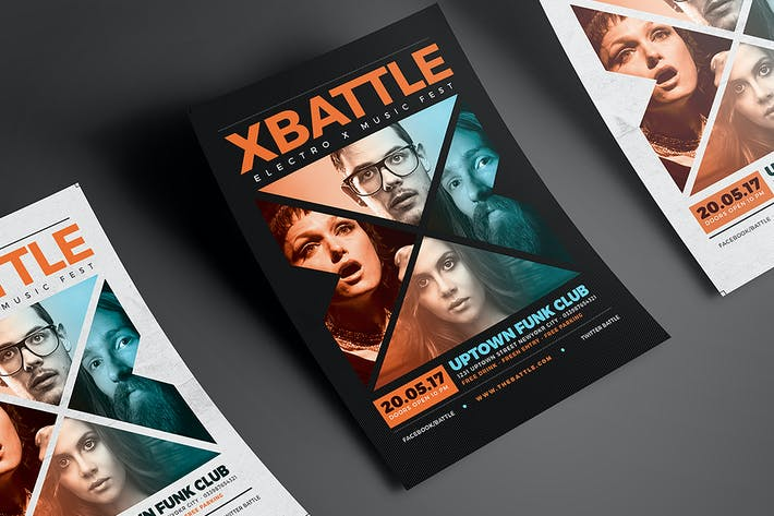 Cover Image For The X Battle Music Flyer