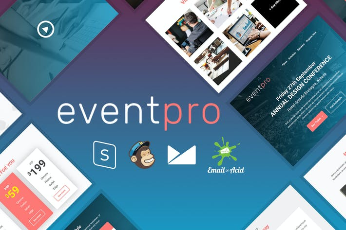 Thumbnail for EventPro - Event / Conference Responsive Email