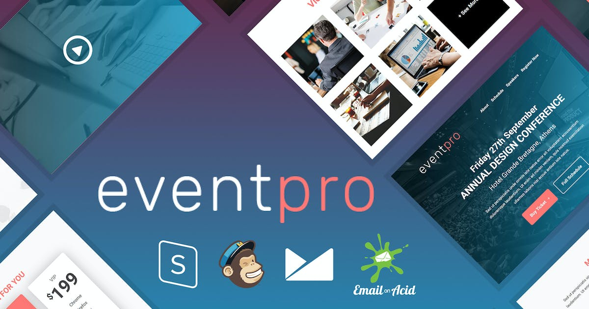 Download EventPro - Event / Conference Responsive Email by Psd2Newsletters