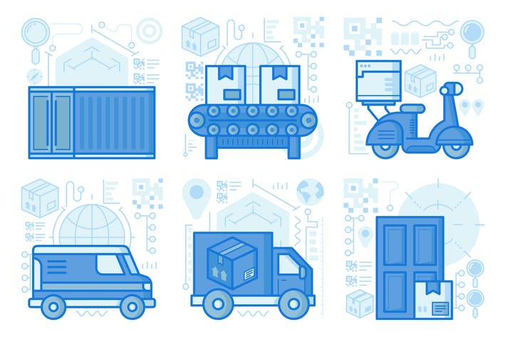 Thumbnail for Home Delivery UX Illustrationen