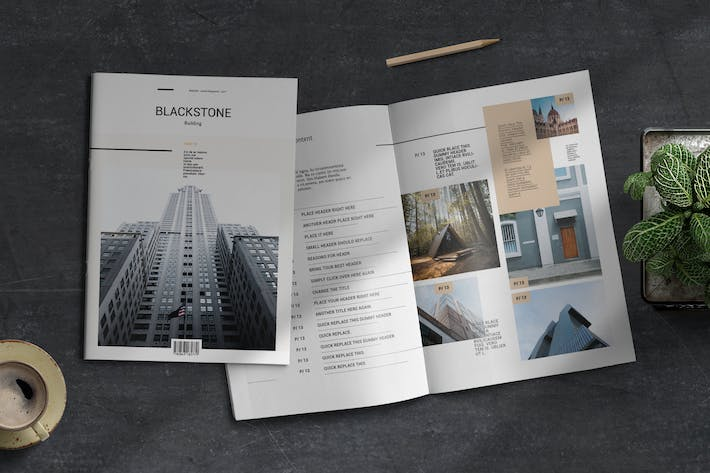 Thumbnail for Blackstone | Magazine Template