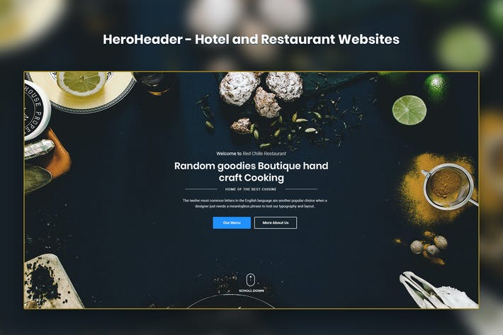 Thumbnail for HeroHeader for Hotel and Restaurant Websites-20