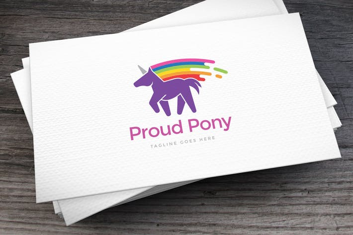 Thumbnail for Proud Pony Logo Template