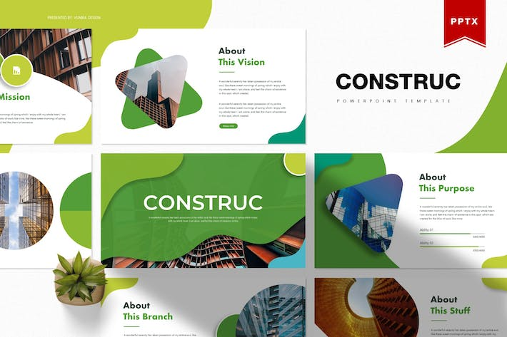 Thumbnail for Construct | Powerpoint Template