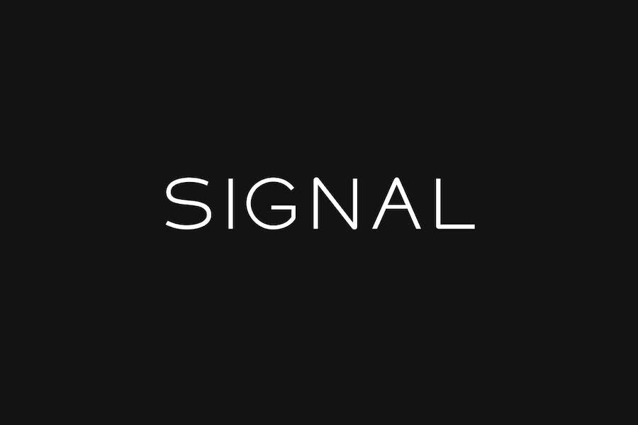 SIGNAL - Modern Display / Headline Typeface