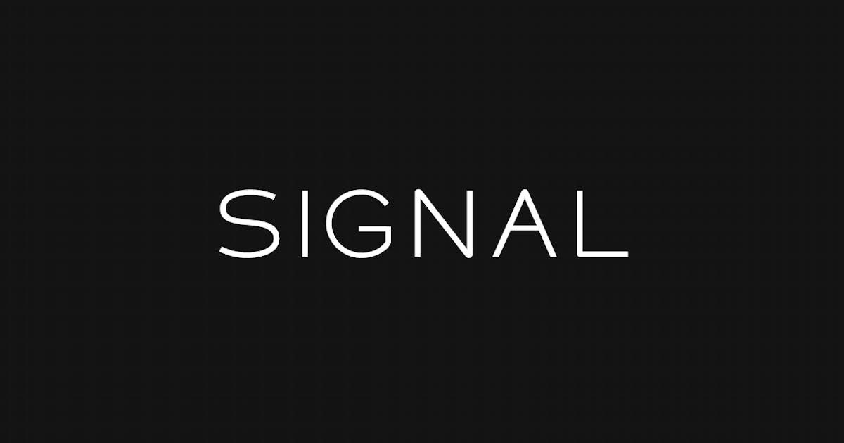 Download SIGNAL - Modern Display / Headline Typeface by designova