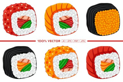 Sushi Vector Pack #01
