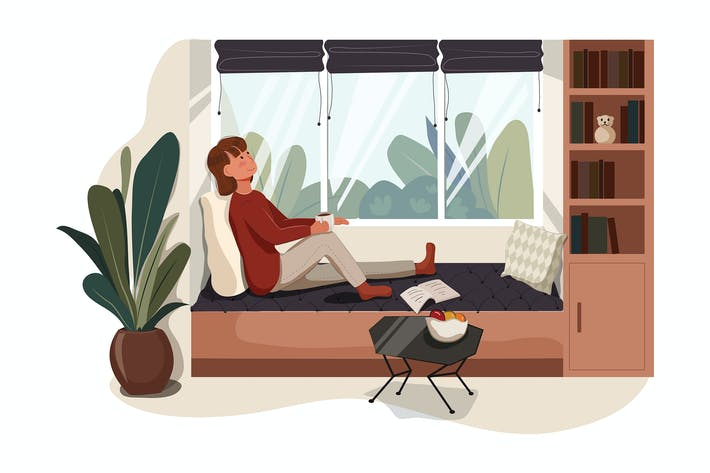 Thumbnail for Telecommuting tips concept vector illustration