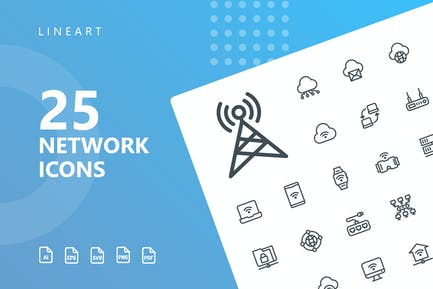 Network Lineart Icons