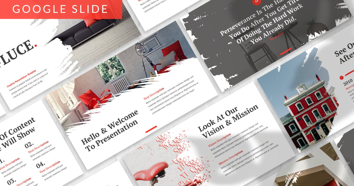 Download Fluce - Interior Google Slide Template by designesto