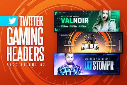 Gaming Twitter Headers Pack 02